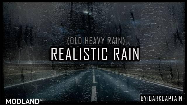 Realistic Rain v2.5 ATS 1.34, 1.35