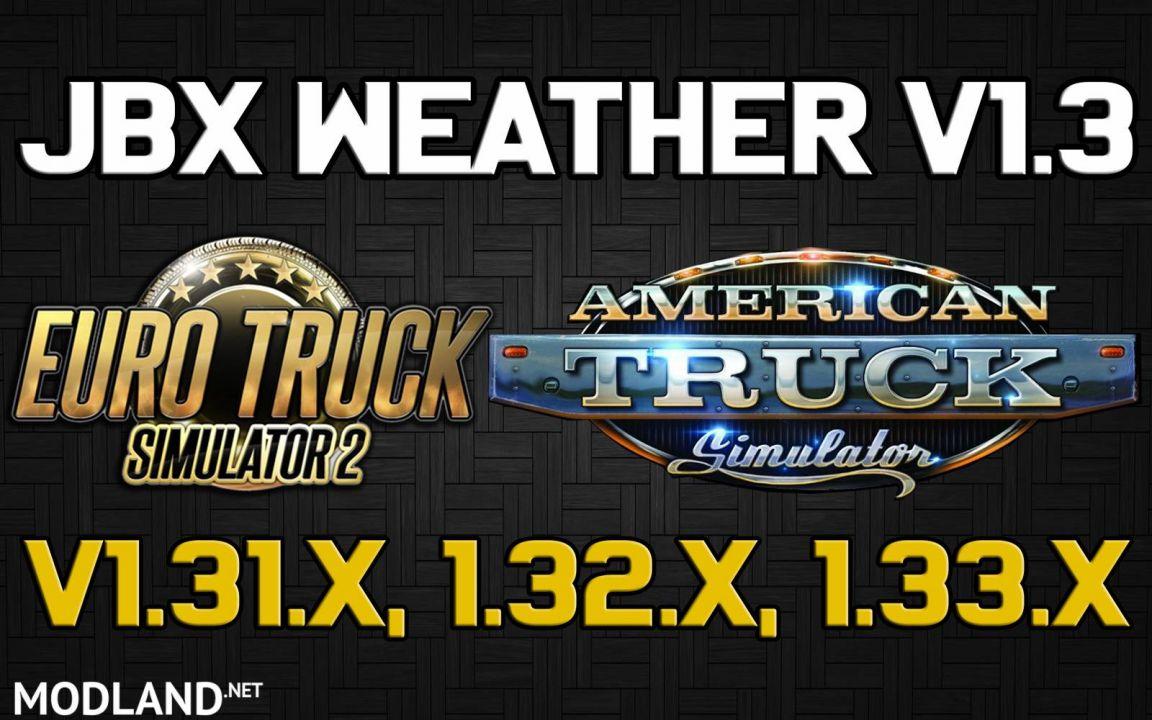 JBX Weather for ATS - ETS2