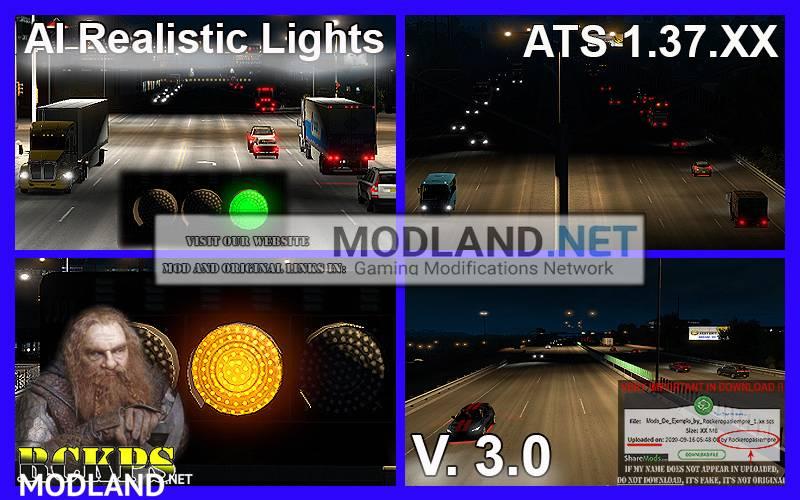 AI Realistic lights V. 3.0 For ATS 1.37.x