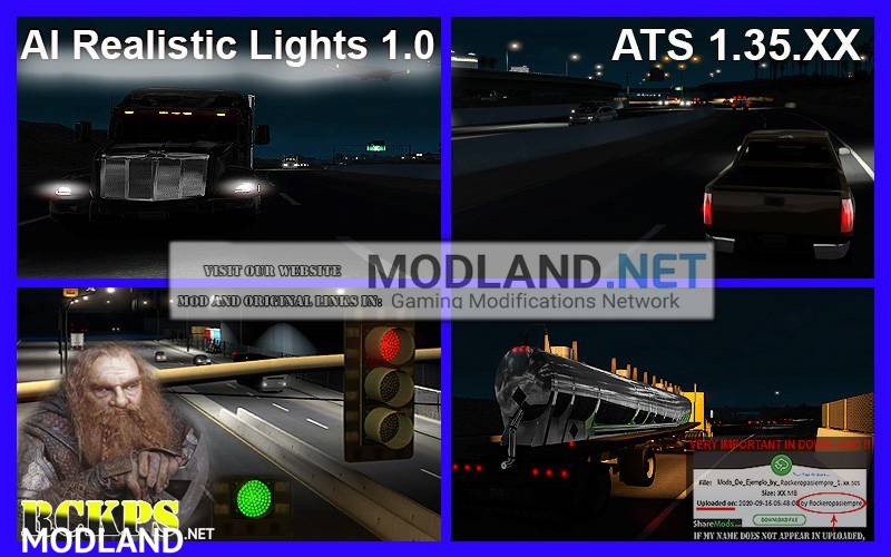 AI Realistic lights V 1.0 for ATS 1.35.x