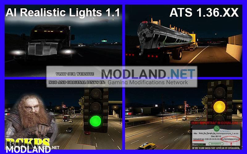 AI Realistic lights V 1.1 for ATS 1.36.x