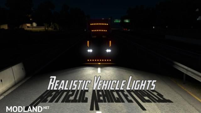 Realistic Vehicle Lights Mod v4.3 ATS 1.36