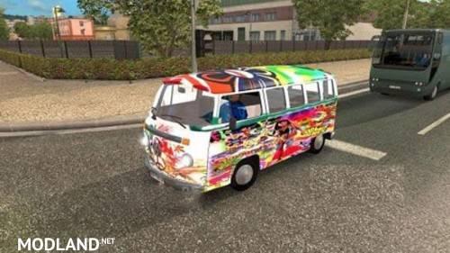 VW Hippie Van for AI traffic