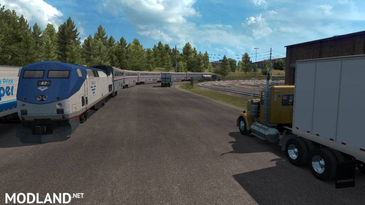 Trains Everywhere (road nightmare) addon for Real Traffic Density And Ratio 1.35 by Cip