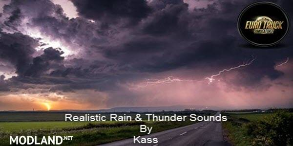 [ATS] Realistic Rain & Thunder Sounds V1.2 1.34, 1.35