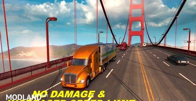No Damage & Increased Speed Limit