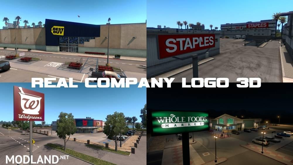 Real Company Logo 3D