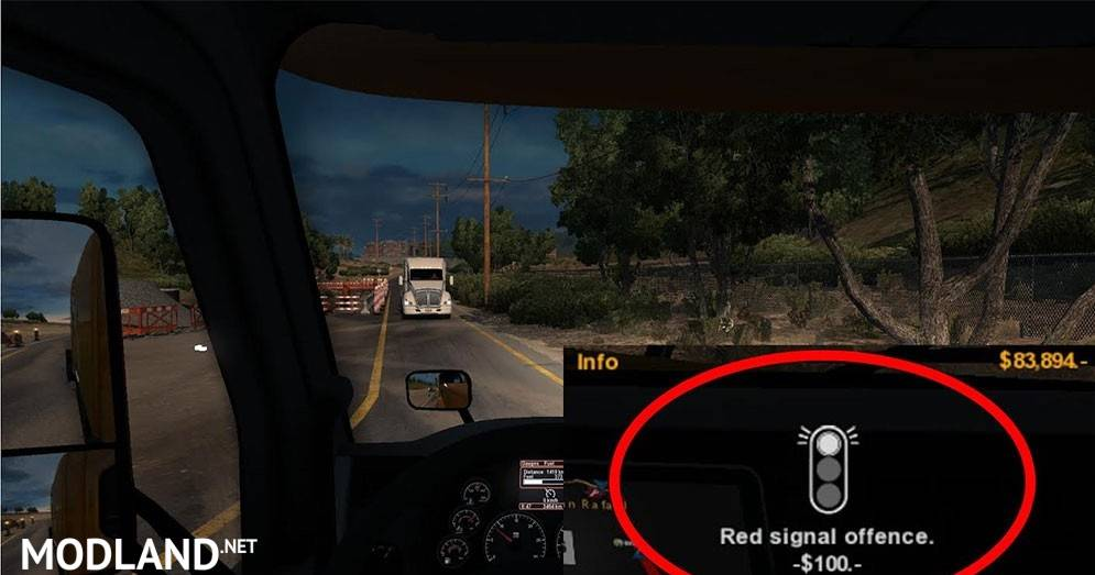 Lower Police Fines Mod For American Truck Simulator Ats