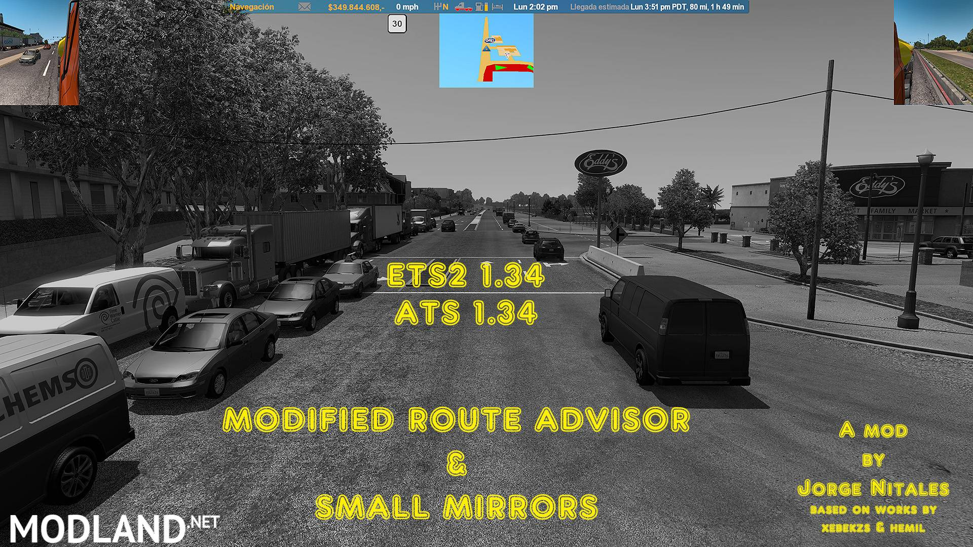 MODIFIED ROUTE ADVISOR & SMALL MIRRORS 1 34 mod for American
