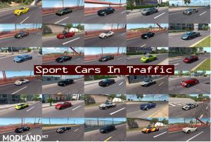 Sport Cars Traffic Pack (ATS) by TrafficManiac v6.6