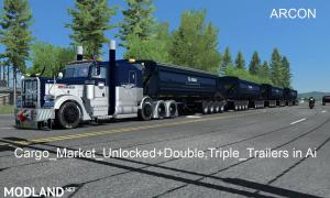 Cargo_Market_Unlocked+Double,Triple_Trailers in Ai, 1 photo