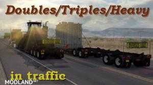 ATS Doubles/Triples/Heavy Trailers in Traffic 1.32, 1 photo