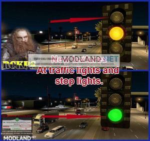 AI Realistic lights V 1.1 for ATS 1.36.x, 2 photo