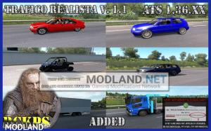 Realistic traffic 1.1 for ATS 1.36 by Rockeropasiempre, 2 photo