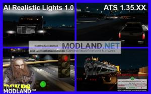 AI Realistic lights V 1.0 for ATS 1.35.x