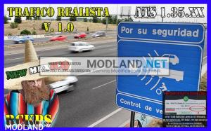Realistic traffic 1.0 for ATS 1.35 by Rockeropasiempre