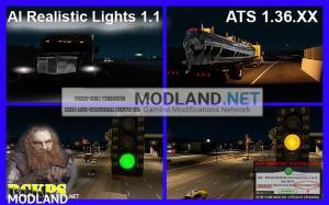 AI Realistic lights V 1.1 for ATS 1.36.x, 1 photo