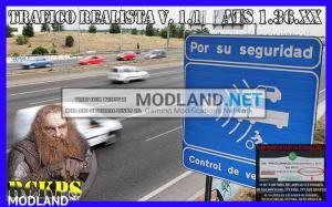 Realistic traffic 1.1 for ATS 1.36 by Rockeropasiempre, 1 photo