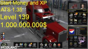 Start Money and XP for ATS 1.35, 1 photo