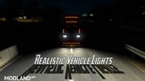 Realistic Vehicle Lights Mod v4.3 ATS 1.36, 1 photo