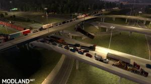 Trains Everywhere (road nightmare) addon for Real Traffic Density And Ratio 1.35 by Cip, 2 photo
