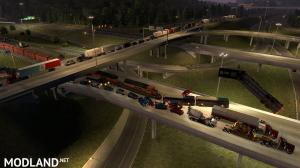 Trains Everywhere (road nightmare) addon for Real Traffic Density And Ratio 1.35 by Cip, 3 photo
