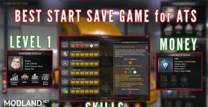 Best Start Save Game (with money and skills) for last Version, 1 photo
