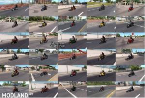 Motorcycle Traffic Pack (ATS) by Jazzycat v 2.1 - External Download image