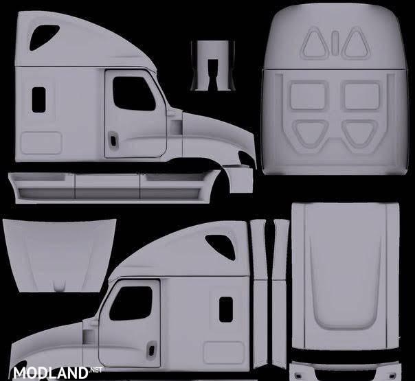 us trucks template mod for american truck simulator ats