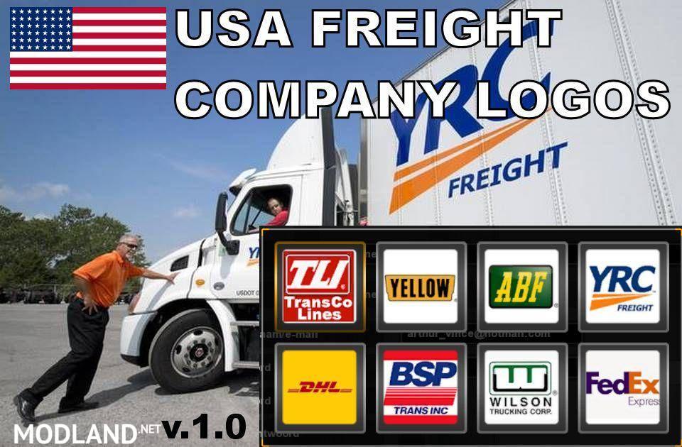 Usa Freight Company Logos Mod For American Truck Simulator