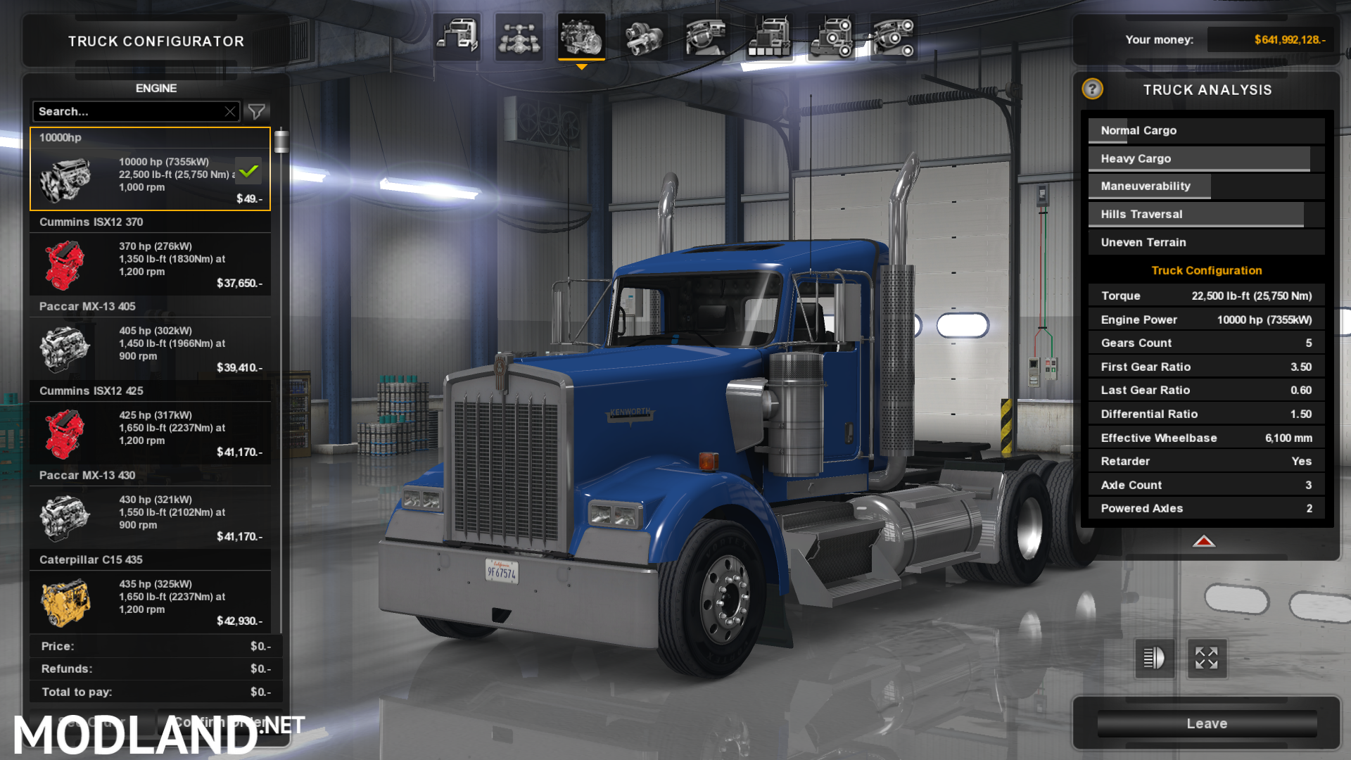 Engine and Transmission for Kenworth W900 mod for American