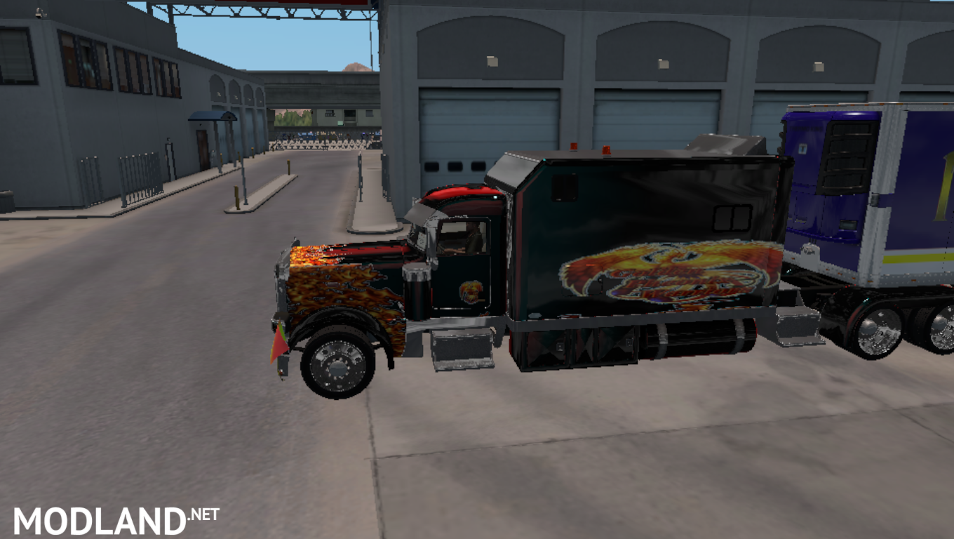 Long Sleeper for SCS Peterbilt 389 mod for American Truck