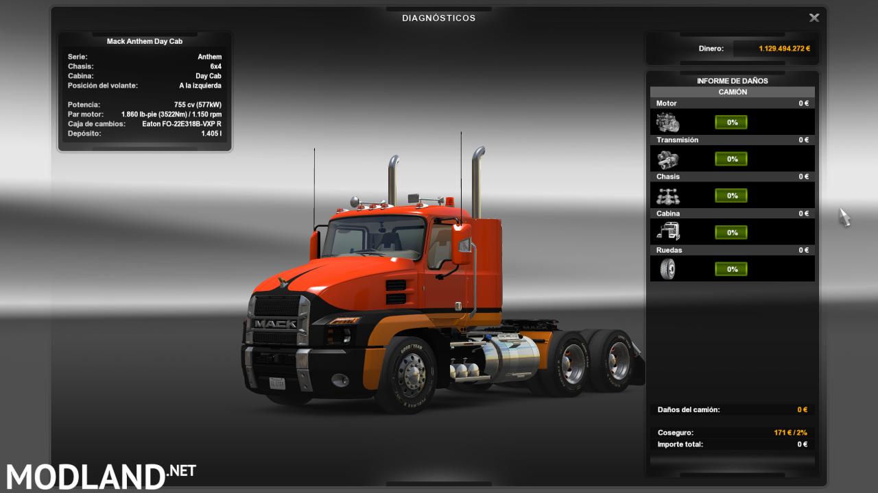 MACK ANTHEM ,chassis + engine