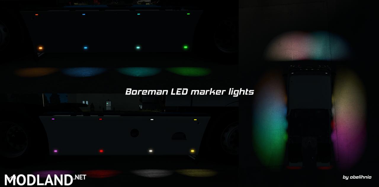 [ETS/ATS] Boreman LED Marker Lights v1.4 [11.07.2018]