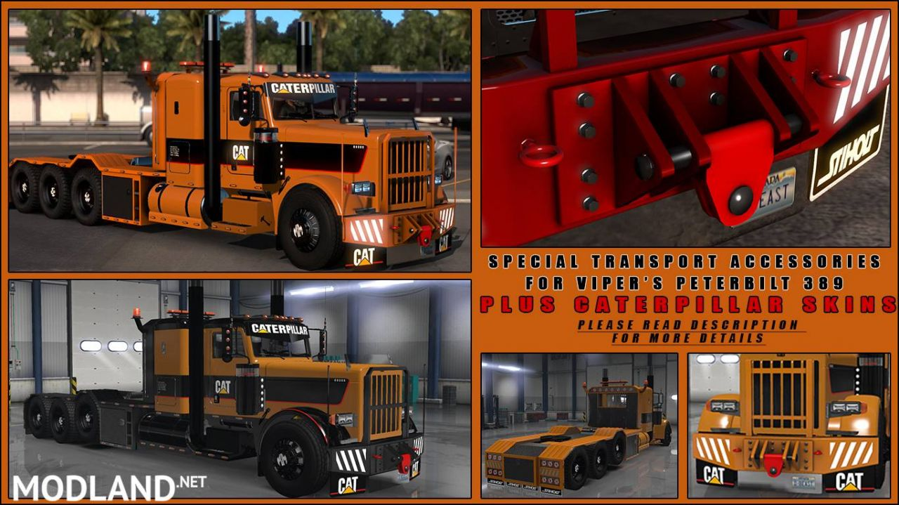 Special Transport Accessories+Caterpillar skins(viper2 389)