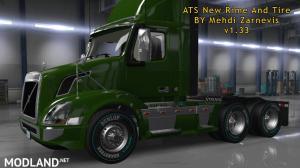 ATS 1.33 new RIM & TIRE V1.0.2 By Mehdi Zarnevis, 2 photo