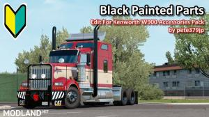 Black Painted Parts Accessories Pack