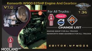 KENWORTH W900 625HP , GEARBOX FOR DAF TRUCKS V1.0 FOR MULTIPLAYER ATS