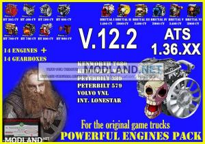 Pack Powerful engines + gearboxes V.12.2 for ATS 1.36.x