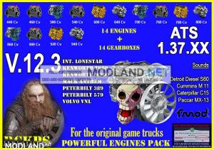 Pack Powerful Engines + Gearboxes V.12.3 for ATS 1.37.XX, 1 photo