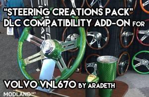 Steering Wheel DLC Add-on for VNL670 by Aradeth