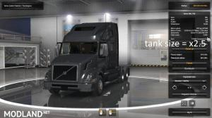 [ATS] Tank size + engine torque x2.5 for all Trucks v 1.0, 2 photo