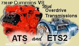 Fictional Cummins V8 and Overdrive Transmissions Pack