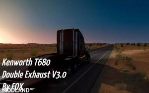 Kenworth T680 Double Exhaust V3.0 SP/MP