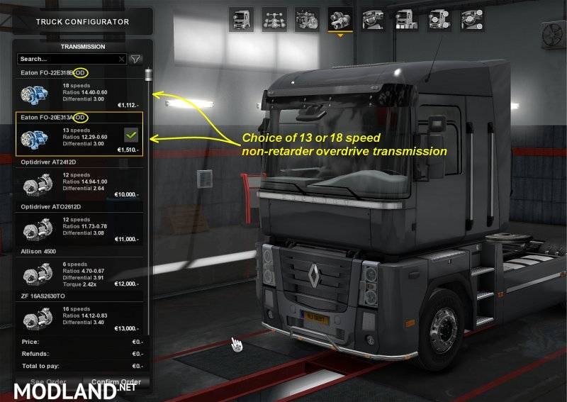 Fictional Cummins V8 and Overdrive Transmissions Pack mod for
