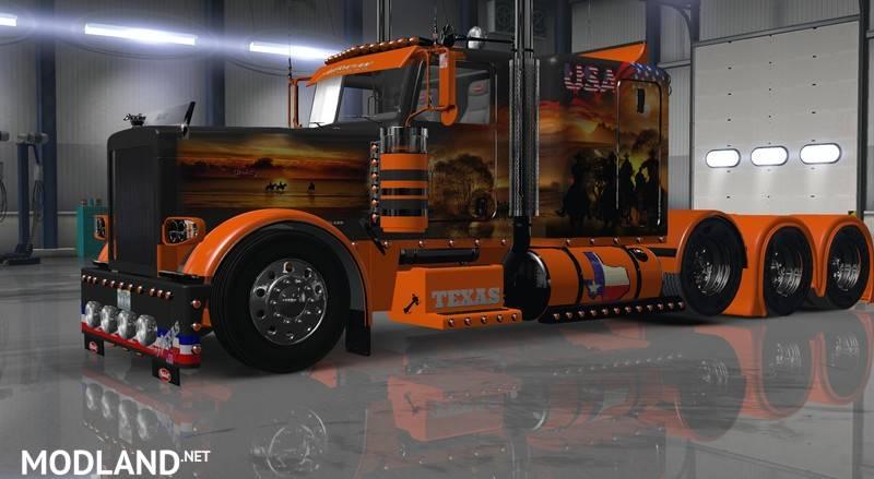 Volvo Trucks Of Texas >> Peterbilt 389 USA TEXAS v 1.2.1.x mod for American Truck Simulator, ATS