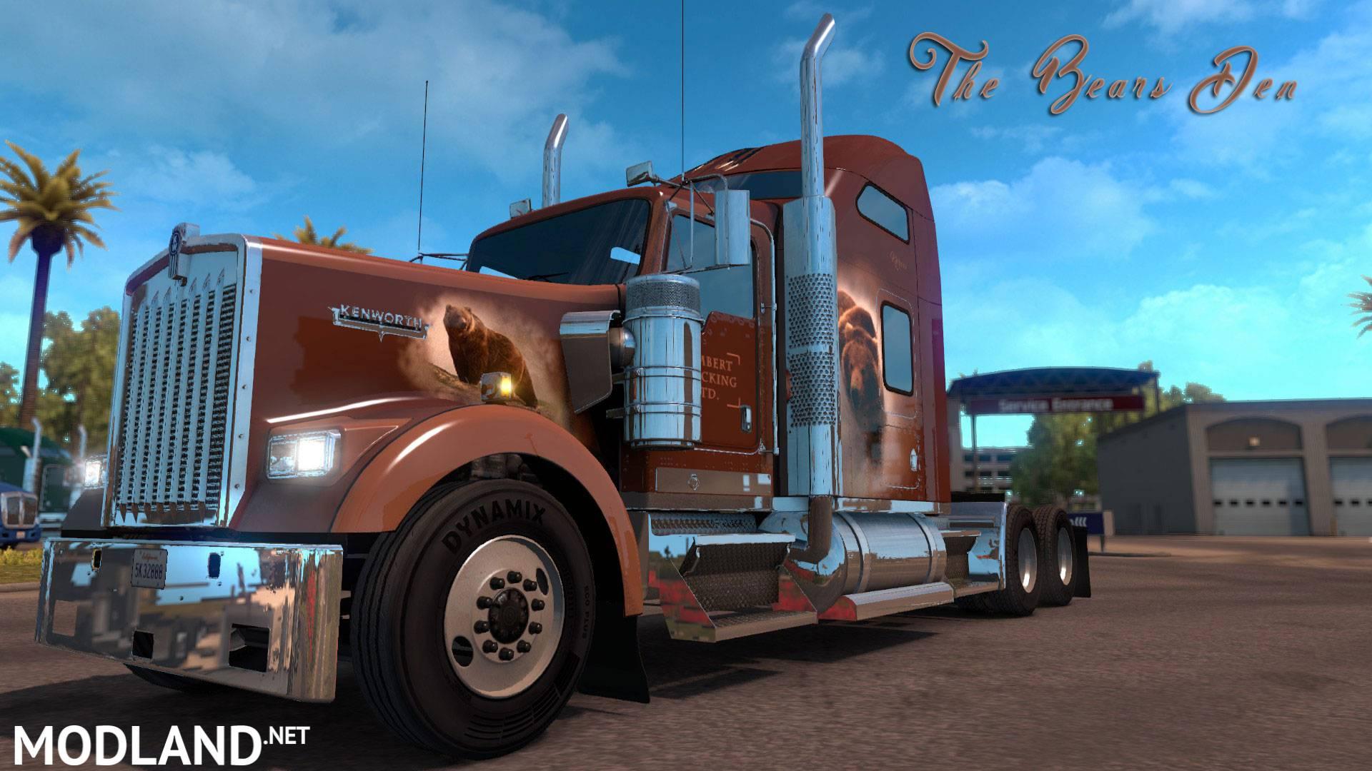 The Bears Den Khross Custom Skin - Kenworth W900 mod for American Truck Simulator, ATS