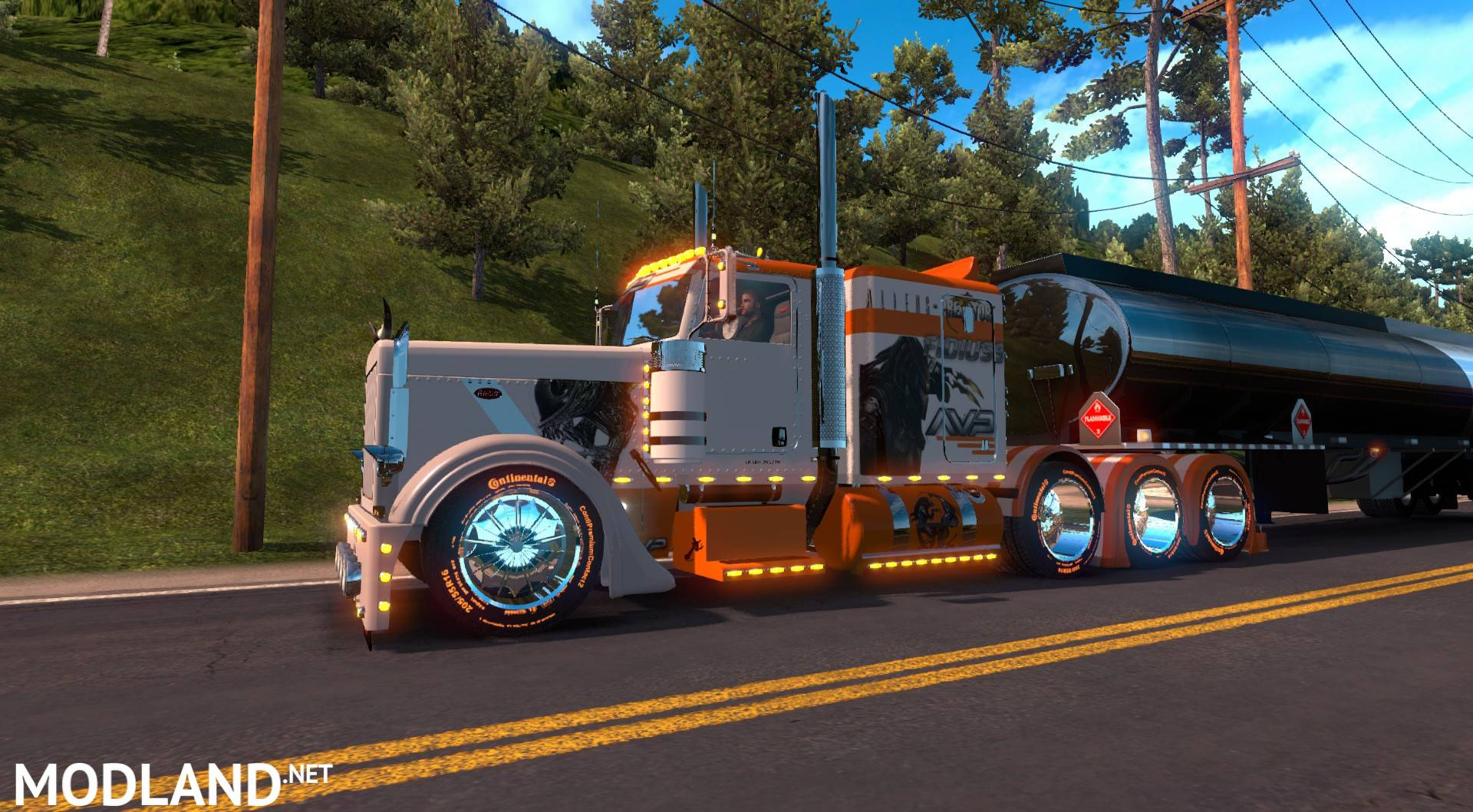 ATS  T-D-S peterbilt 389 Alien vs Predator mod for American