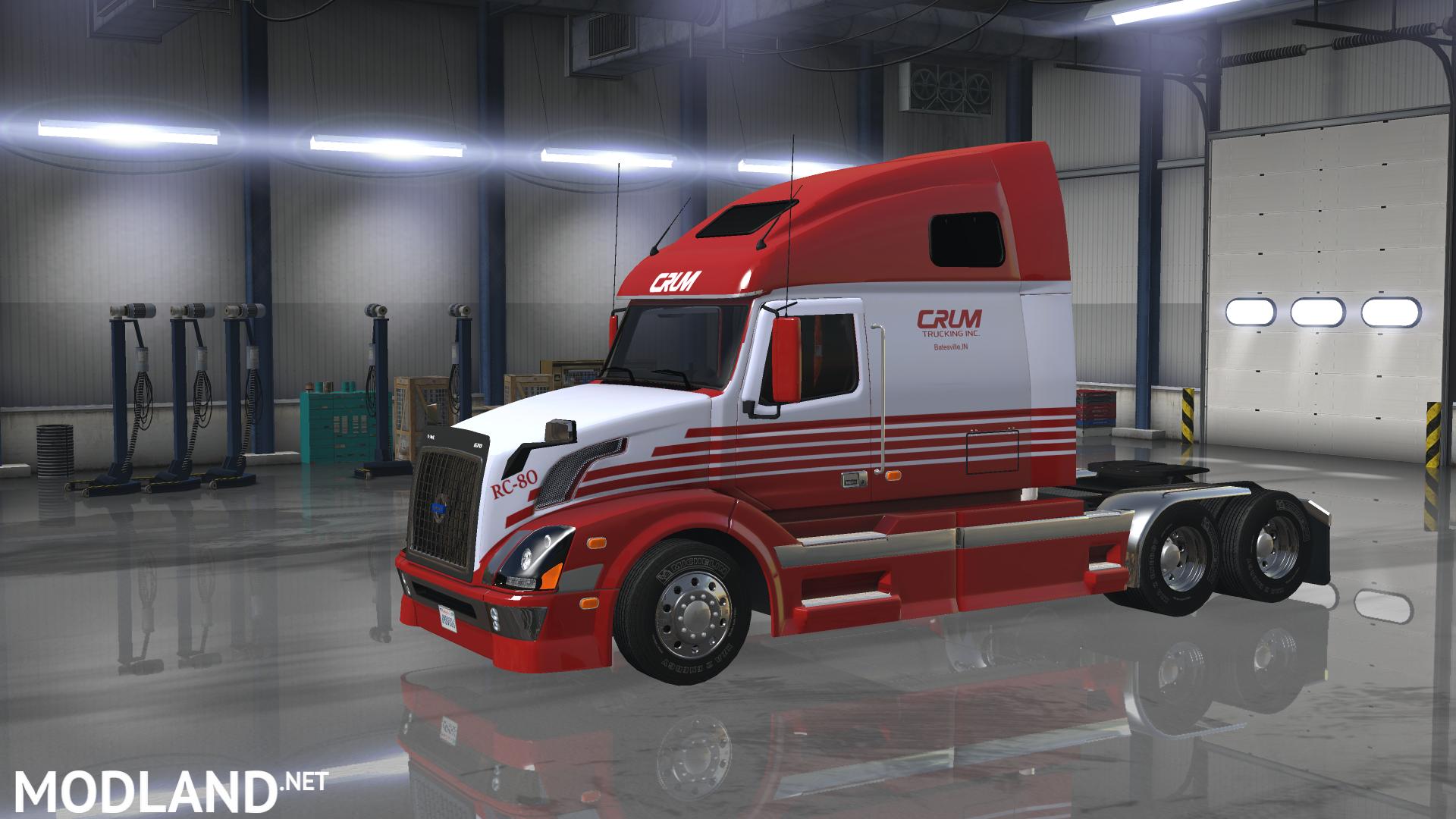 Ats Custom Skin Crumtrucking Volvo Mod For American Truck Simulator Ats