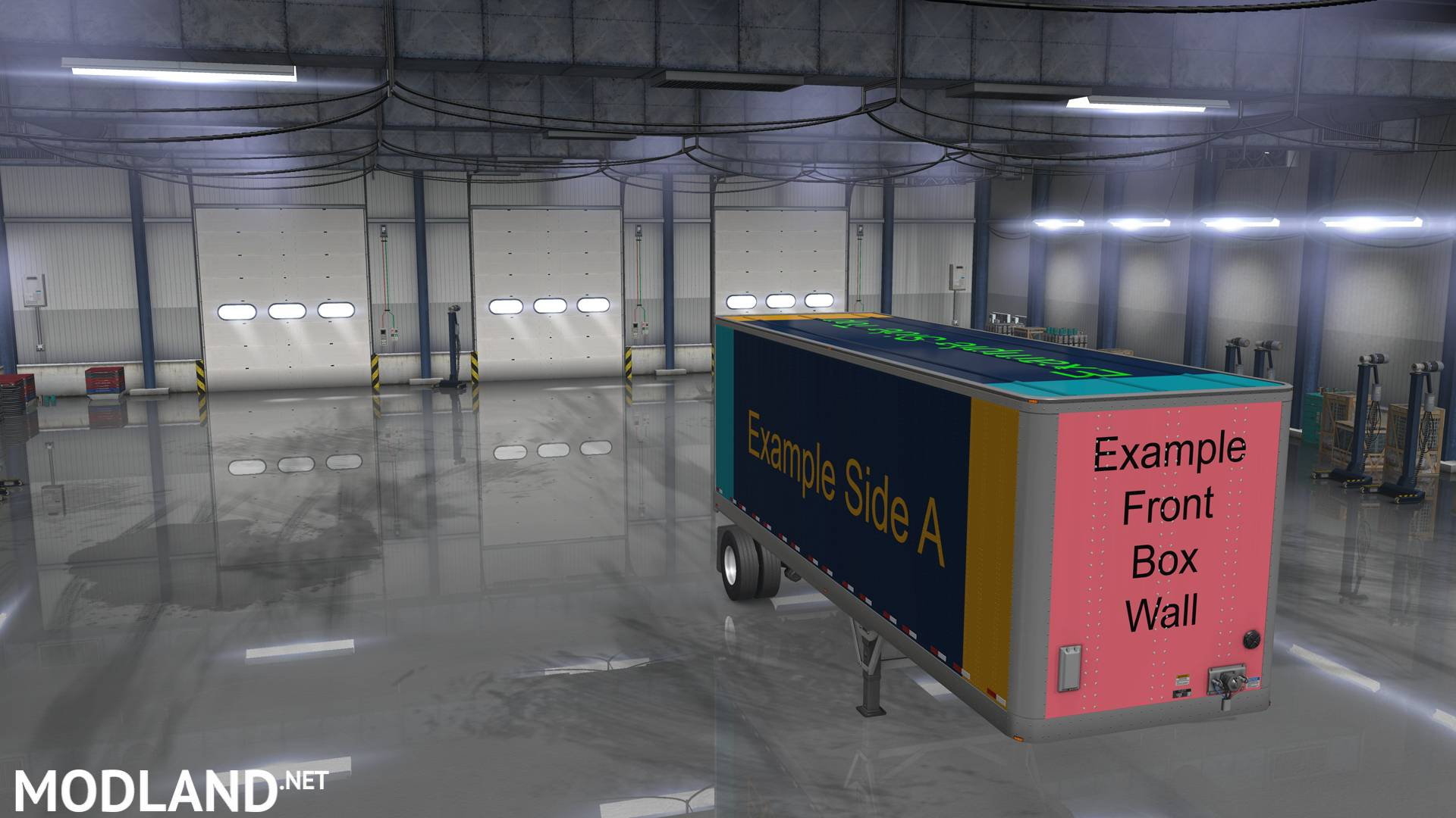 ATS Owned Trailers Templates with Example Skin Mod mod for American Truck Simulator, ATS